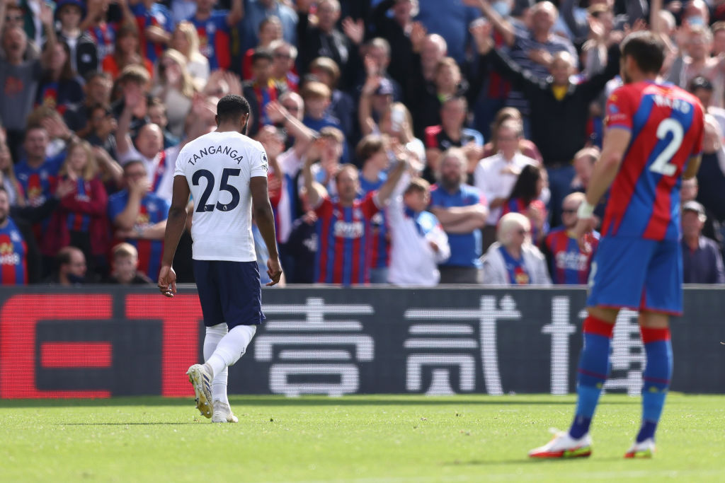 Japhet Tanganga leaves the field as Spurs suffer defeat to Crystal Palace