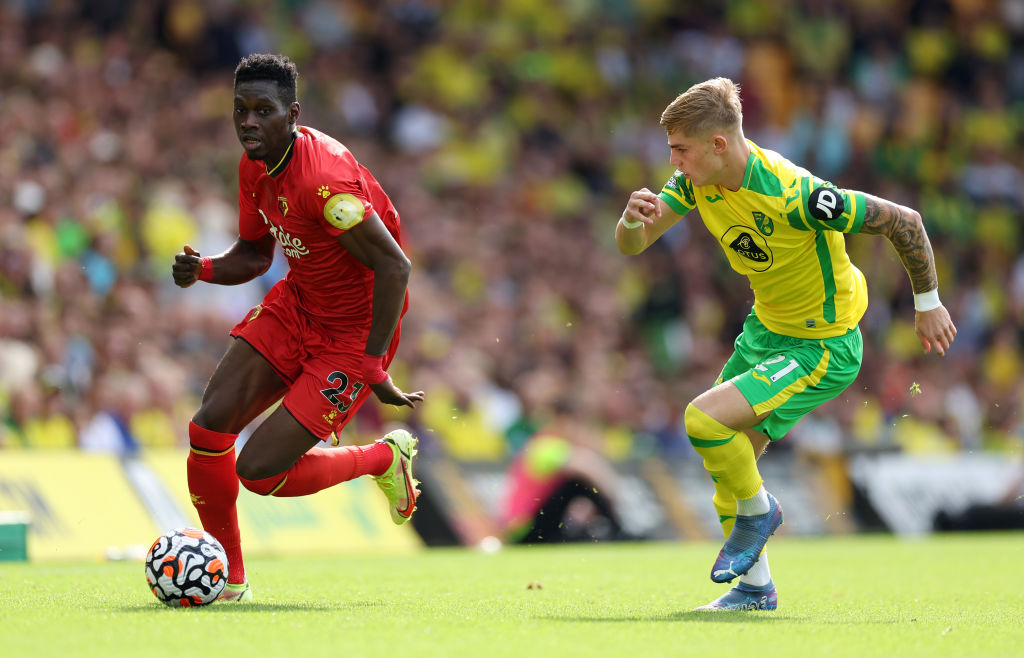 Ismaila Sarr in action for Watford