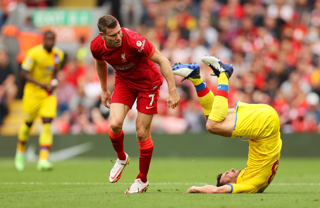 James Milner in action for Liverpool
